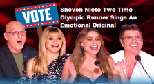 America's Got Talent 2020 Shevon Nieto Two Time Olympic Runner Sings An Emotional Original